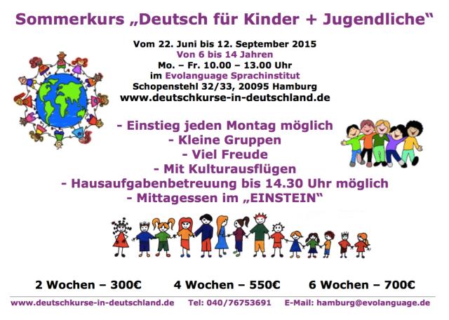 Deutschkurse Kinder Hamburg