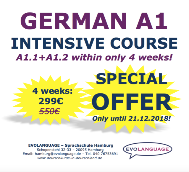 German language school Hamburg_GERMAN A1 SPECIAL OFFER